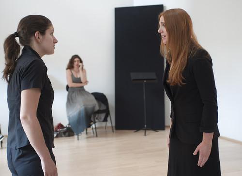 En répétition à Aix-en-Provence avec Layla Claire et Emmanuelle Cordoliani à la mise en scène
