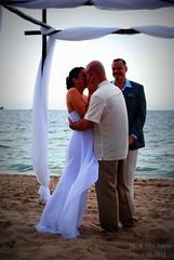 9.365 (Lana Llama) Tags: wedding portrait beach beautiful husband wife 365 firstkiss specialmoments