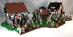 Spamedy spam! (DARKspawn) Tags: house castle wagon town village lego battle medieval bakery blacksmith viking hamlet classiccastle darkspawn