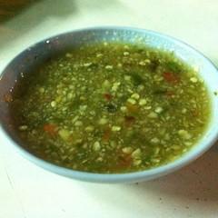 น้ำจิ้มสามรส | Hot And Spicy Dipping Sauce @ เนเน่ ปลาเผา เจ็ดยอด | Ne Ne