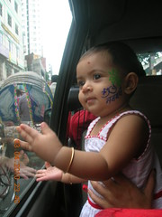 Goongoon-DSCN5612 (jhtitu) Tags: baby asian facepainting bodyart cutebaby gungun goongoon alpona boishakh jannat shuvonoboborsho bangladeshibaby pholelaboishakh