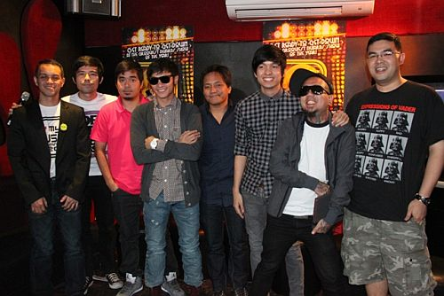 1 Nominees with MYX Channel Head Andre Alvarez during MMA 2012 announcement of nominees (photo by Allan Sancon)