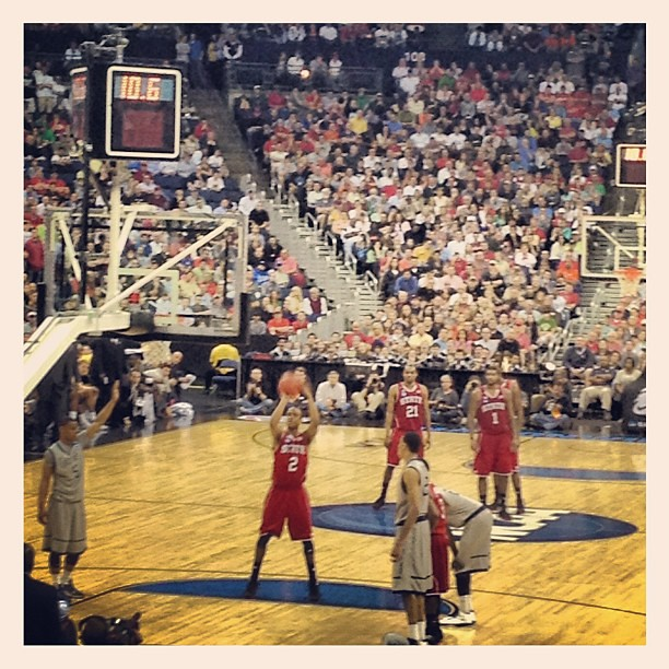 NC STATE vs Georgetown in NCAA Basketball Action in Columbus