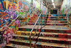 University of Sydney: Graffiti Tunnel (Kokkai Ng) Tags: street urban man building art person one graffiti moving movement education tag sydney australia tunnel nobody tags vandalism newsouthwales tagging universityofsydney sydneyuniversity