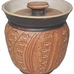 "<b>Cookie Jar</b><br/> Dean Schwarz (1930-) ""Cookie Jar"" Stoneware, n.d. LFAC #2003:12:01<a href=""http://farm8.static.flickr.com/7187/6852263141_7bcbdf62d5_o.jpg"" title=""High res"">∝</a>"