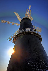 Sibsey Trader Windmill (JonCoupland) Tags: blue winter sky snow windmill boston photography jon skies scene lincolnshire lincoln sail february hdr coupland trader sibsey swineshead fishtoft
