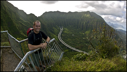 Me on the Haiku Stairs