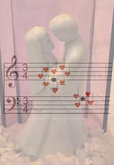 "Surround ""Mi"" With Love (Doug.Mall) Tags: macro hearts lyrics notes song overlay lovesong weddingcaketopper macromondays nikond5000 dougmall"