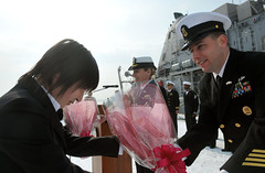 Hakodate welcomes USS Patriot. (Official U.S. Navy Imagery) Tags: japan unitedstates military navy usnavy hakodate sasebo usspatriot mcm7 wwwfacebookcomusnavy