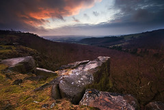Sunset at Gardoms Edge (andy_AHG) Tags: winter sunset rural outdoors rocks peakdistrict scenic moors pennines britishcountryside northernengland landscapephotography beautifullandscapes gardomsedge