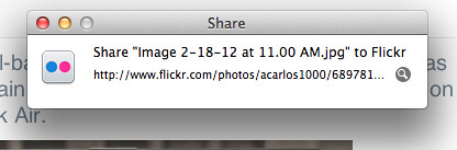 Flickr and OS X Mountain Lion