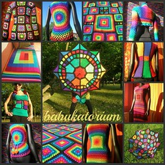 Granny Square (babukatorium) Tags: pink blue red summer orange black green art fashion yellow umbrella vintage circle square sweater rainbow triangle dress purple handmade mosaic turquoise teal burgundy oneofakind coat crochet moda violet style mandala retro parasol blanket afghan gradient hexagon hippie vest patchwork psychedelic cardigan manta pentagon multicolor shrug striped octagon waistcoat gilet bedspread whimsical babyblanket ombrello mintgreen sequin bolero haken parasole hkeln emeraldgreen croch coperta grannysquares ganchillo colete chaleco babyafghan uncinetto copriletto  tii horgolt babukatorium