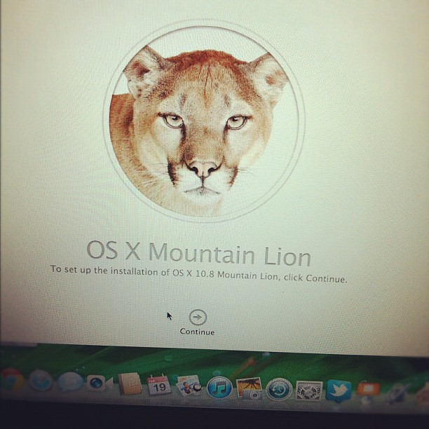 Installing Mac OSX Mountain Lion on my MacBook Air