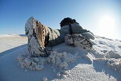 The Climb (Michele D. Lee) Tags: climb sand boots climbing whitesand whitesandsnationalpark