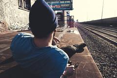 Relax (Emmanuel Rosario) Tags: sunset people urban inspiration newyork art water rock 35mm vintage relax graffiti crazy cool alone natural exploring hipster lifestyle retro smoking adventure teen editorial ready dust emotions cuteboy havingfun cigaret locura wildboy indiekids americanboy buenavida americanyouth hipsterlife emmanuelrosario lifetraintracks