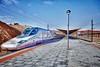 Tren AVE (Jose Casielles) Tags: color luz tren ave cielo estación cuenca yecla viajeros anden catenaria trenaltavelocidad trenave lineaaltavelocidad fotografíasjcasielles