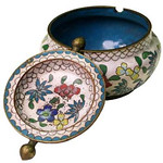 "<b>Tilt-top Ash Tray</b><br/> Unknown (Chinese) Tilt-top Ash Tray Cloisonne, n.d. LFAC #1994:12:37<a href=""http://farm8.static.flickr.com/7187/6916692879_002dca6f50_o.jpg"" title=""High res"">∝</a>"