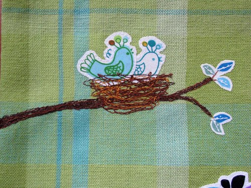 Bird Collage Tea Towel detail