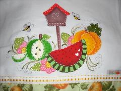 Muita cor (Pintura em tecido. Panos de prato.) Tags: vacas galinhas pinturacountry panosdeprato espantalhos panodeprato