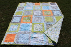 Backyard Baby Quilt for Beloved Middle Child (Frecklemama) Tags: quilt squares patchwork stipple backyardbaby