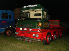 1969 erf lv Chinese six at night (m11 erf) Tags: boston night lorry erf trailer pallet six artic lv