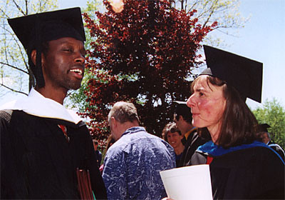 Joseph Sebarenzi, Former Parliamentary Speaker of Rwanda, and Commencement Speaker, Chats with Professor