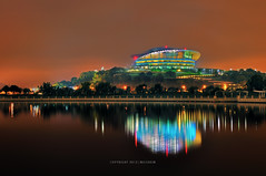 PICC @ Night | PICC (mozakim) Tags: lighting light lake colour reflection water night landscape nightscape nightscene colourful putrajaya hdr malam zaki pemandangan tasik warna flickrfavourites lanskap warnawarni kartpostal 5exps flickraward pusatmaritimputrajaya mozakim