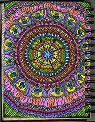 spiral journal 49 (happy*mess) Tags: detail illustration pen design pattern drawing journal mandala doodle depression marker ocd obsessive artjournal arttherapy happymess anxietydisorder borderlinepersonality christineechelbarger