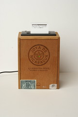 Cigar-box thermal printer. (Rob Cruickshank) Tags: printer thermal cigarbox adafruit projectpacks