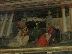 Pre-Raphaelite fresco at Castle Howard (Celeste33) Tags: england chapel northyorkshire preraphaelite castlehoward theannunciation