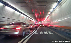 Holland Tunnel - Lights (jmillerdp) Tags: auto street city nyc newyorkcity urban ny newyork color cars car digital automobile exterior kodak transit autos automobiles hollandtunnel dc280