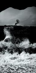 Ma Mditerrane a dbord #3/10 (REMY SAGLIER - DOUBLERAY) Tags: sea horse mer cheval diptych expo noiretblanc wave erosion paysage diptyque vague brume dyptich fumee ecume mditerrane 2011 galop septoff saglier