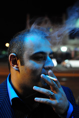 portrait of a friend (Gene Krasko Photography) Tags: portrait smoke nightportrait manface cigarettesmoke manportrait naturallightportrait nikond90 menportrait menfaces nikon35mmf18