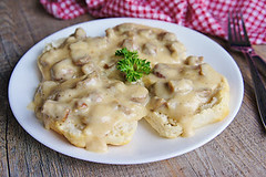 Sweet Maple Sausage Gravy (Kitchen Life of a Navy Wife) Tags: breakfast maple sausage brunch biscuitsandgravy sausagegravy maplesausage