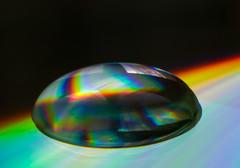 Drop on a CD - no photo manipulation (Emmanuel Cateau) Tags: light color macro reflection water fantastic eau cd drop lumiere refraction tamron goutte tamronmacro90mm