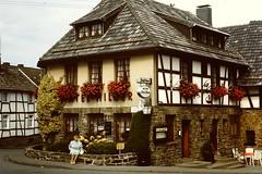 Germany (by JS) (streamer020nl) Tags: germany ma deutschland hotel slide dia scan eifel 1970s 1980s eis js allemagne halftimbered duitsland fachwerk vakwerk hilger simmerath rurberg zumjgerhof