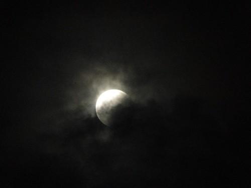Eclipse parcial desde Liberia
