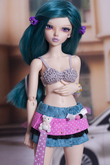 IMG_0067 (angelwulf_BJD) Tags: flowers doll kei handmade pastel goth chloe skirt clothes fairy layer ribbon bjd resin fairyland msd layered balljointed mnf faceup minifee