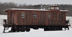 Canaseraga, New York (8 of 10) (Bob McGilvray Jr.) Tags: wood nyc railroad ny newyork train wooden display tracks caboose cupola static depot passenger freight psn newyorkcentral canaseraga pittsburghshawmutnorthern