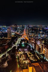 Tokyo Cityscape (ShiroWengPhotography) Tags: city travel light tower japan night photography tokyo spring high cityscape wide tau 2016 shiroweng