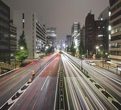 Nihonbashi (spiraldelight) Tags: night tokyo  traffictrails   eos5dmkii tse17mmf4l