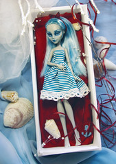 world in a box (tehhishek) Tags: world blue sea sun monster high model doll box ooak katherine bourne custom zombies mattel strips corals ghoulia