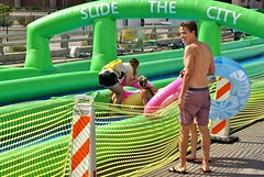 Slide the City (alfiegeephotography) Tags: candid waterslide sonyalpha100