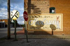 Holsum Energy Shot (Notley) Tags: sky signs sign wall clouds midwest may missouri brickwall blackwater smalltown vintagesign 2016 handpaintedsign 10thavenue notley ruralphotography blackwatermissouri ruralusa notleyhawkins coopercountymissouri missouriphotography httpwwwnotleyhawkinscom notleyhawkinsphotography downtownblackwatermissouri