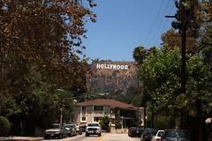 Hollywood (Adrien Duchtel) Tags: street blue sky usa sun house holiday tree car montagne us losangeles arbres hollywood moutain colline californie