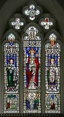 Christ in glory, Holywell (TheRevSteve) Tags: church parish stainedglass cambridgeshire anglican oswald edmund holywell johnthebaptist huntingdonshire