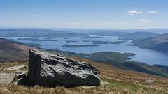 Rock over Loch Lomond (GDDigitalArt) Tags: mountain nature sunshine rural scotland daylight outdoor hiking loch distance benlomond lochlomond