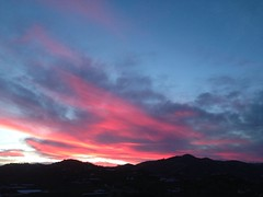 Fire in the sky. (alvaromoreto) Tags: sky atardecer torrox montain