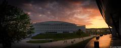 ApusSala Polivalenta ( Cluj-Napoca ) (Lucian Nuță) Tags: city sunset clouds landscape golden landscapes hour romania cluj napoca clujnapoca 2016 capitala cluj2016