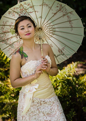 Spring Bride (Maxinux40k) Tags: california park wedding portrait people woman tattoo asian bride spring nikon outdoor parasol april paloalto weddingdress nikkor naturallighting 2016 d810 afs70200mmf28gvr mitchellcipriano